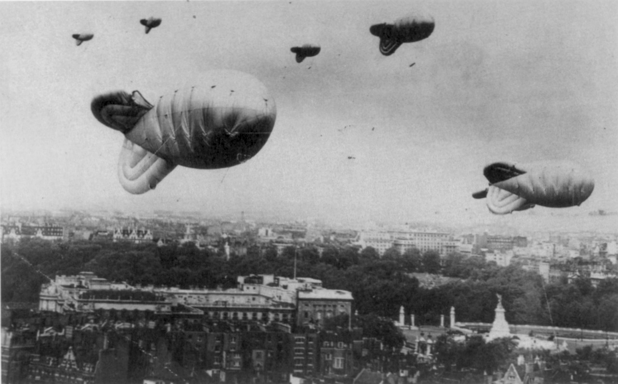 Image result for British barrage balloon