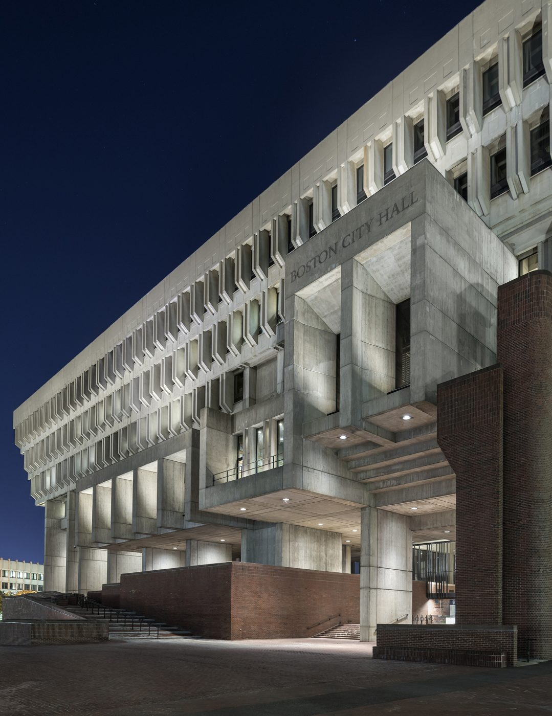 Boston City Hall Exterior Lighting Utile Architecture