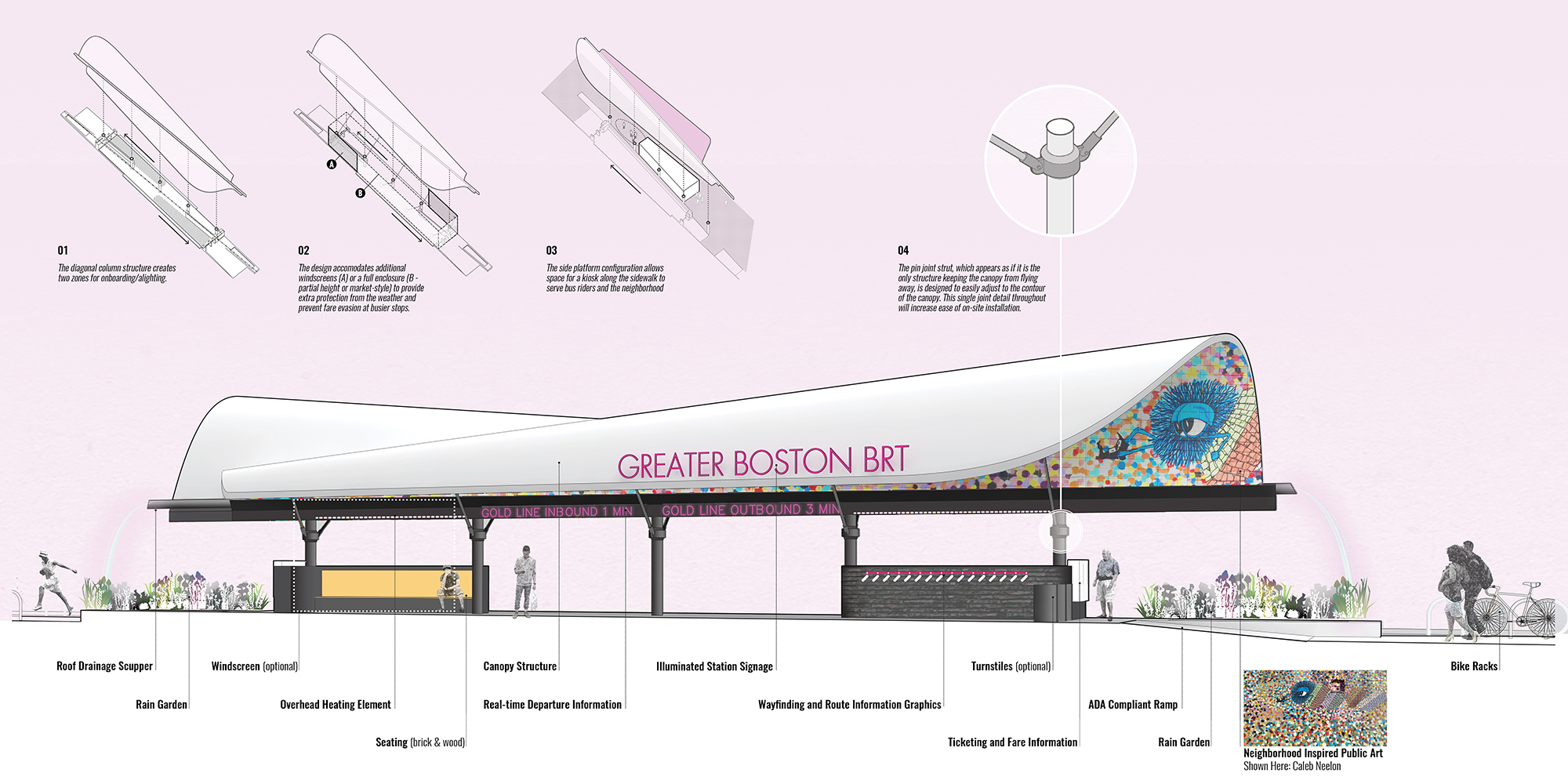 Utile wins 1st place in the BostonBRT Station Design Competition!
