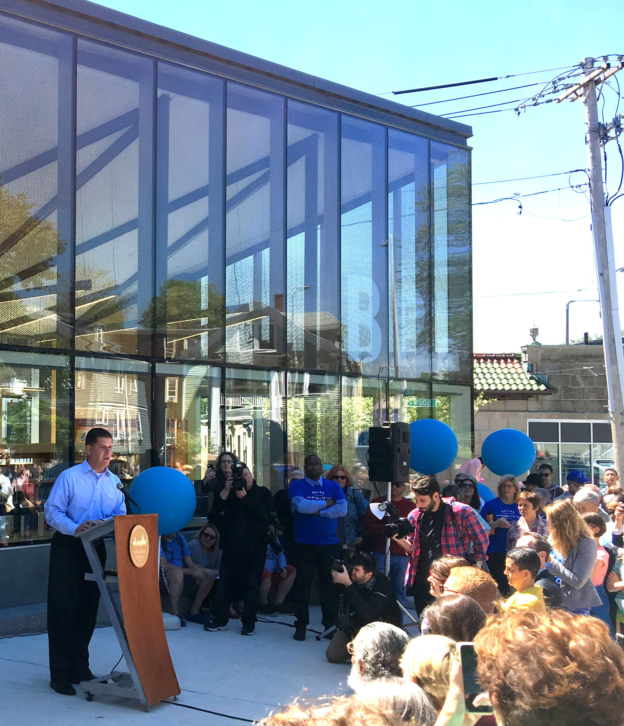 The Jamaica Plain Branch of the Boston Public Library officially reopens!