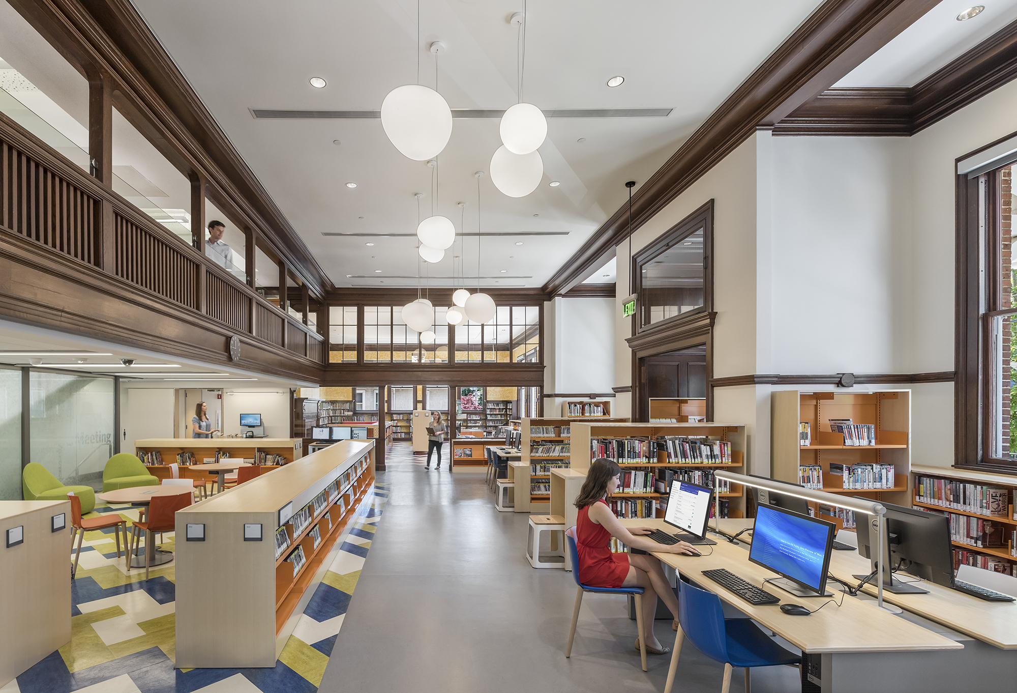 New photos of the Jamaica Plain Branch of the Boston Public Library