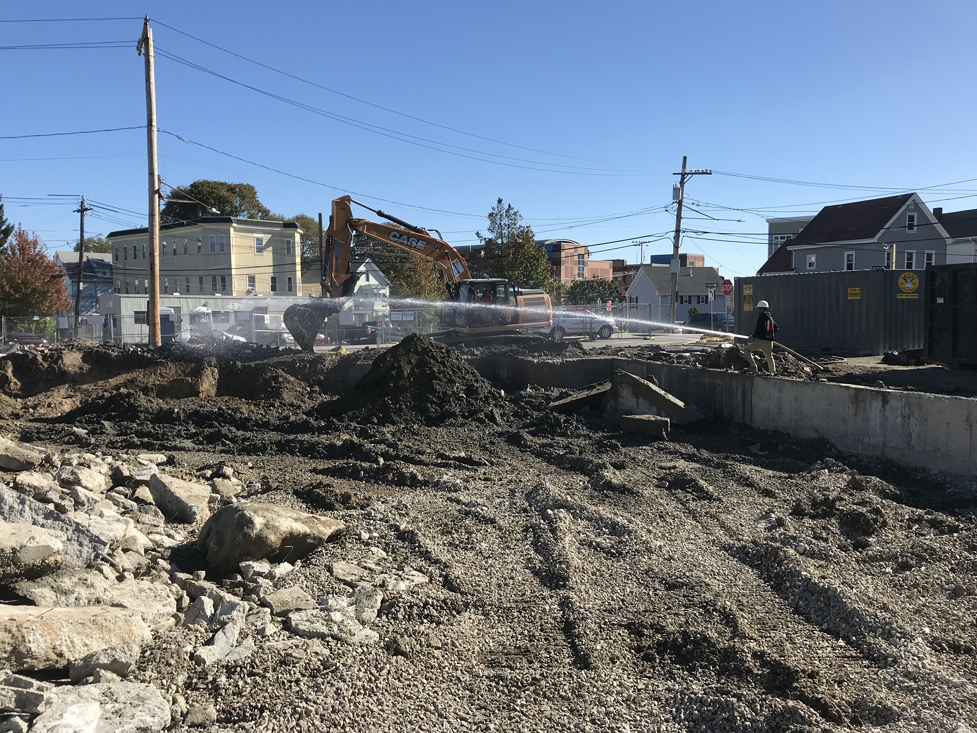 Demolition begins at 242 Spencer Avenue in Chelsea