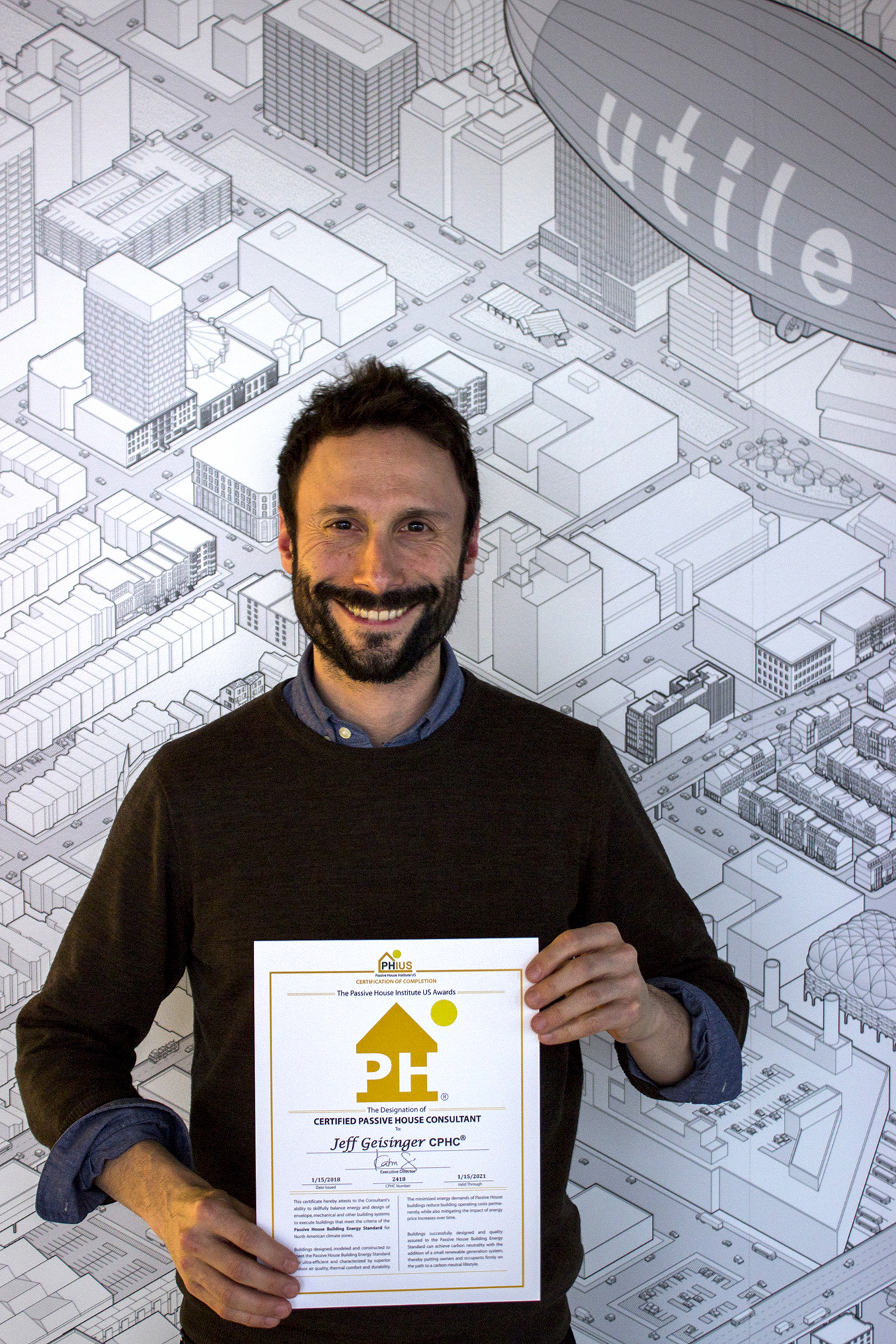 Jeff Geisinger earns Passive House Consultant Certification