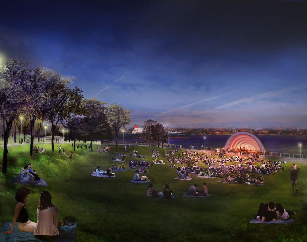 Utile joins MVVA and David Adjaye in transformation of Detroit's West Riverfront Park