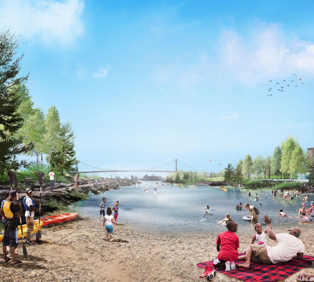 Utile joins MVVA and David Adjaye in transformation of Detroit's West Riverfront Park