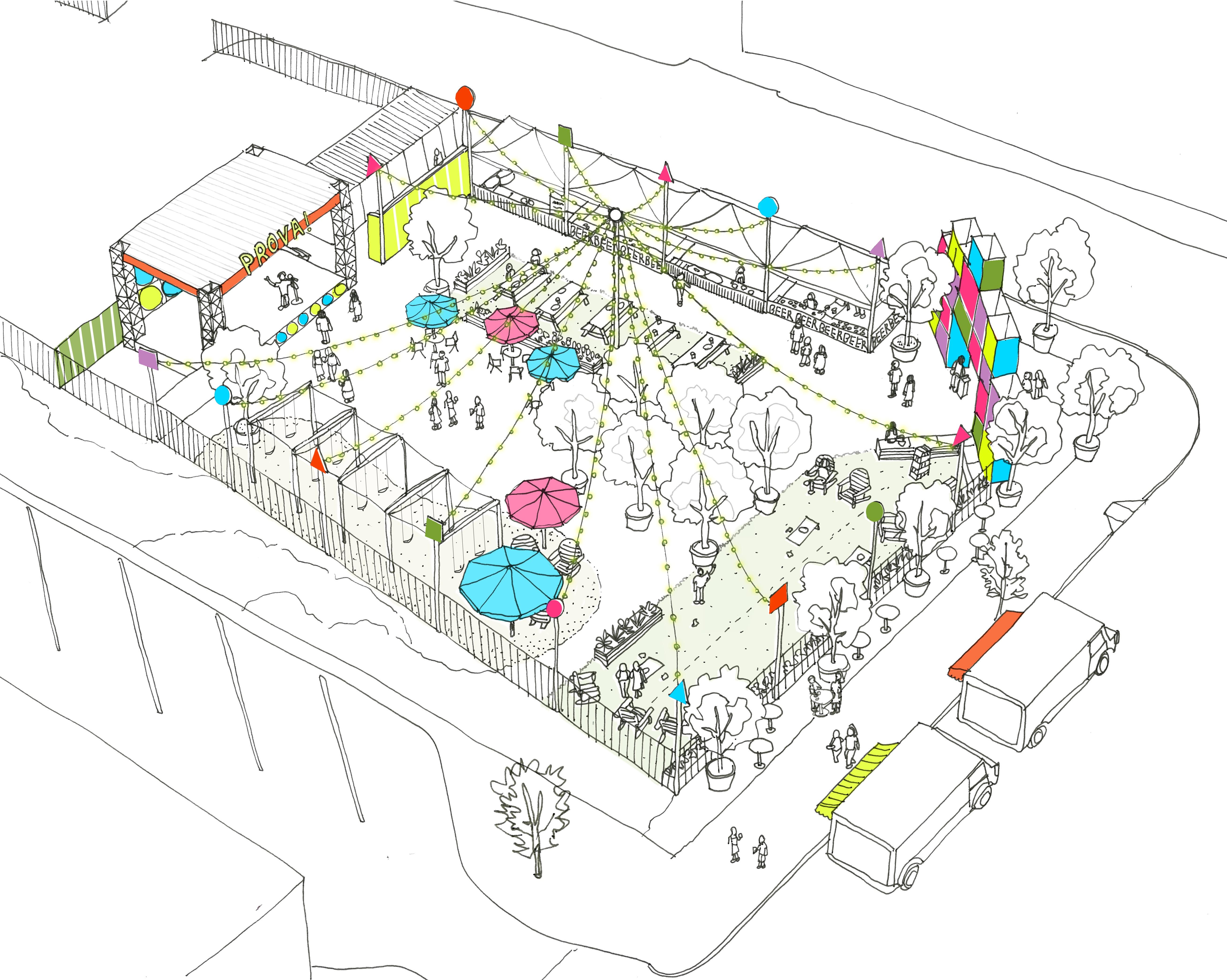 Utile's PROVA beer garden concept comes to life in Brockton!