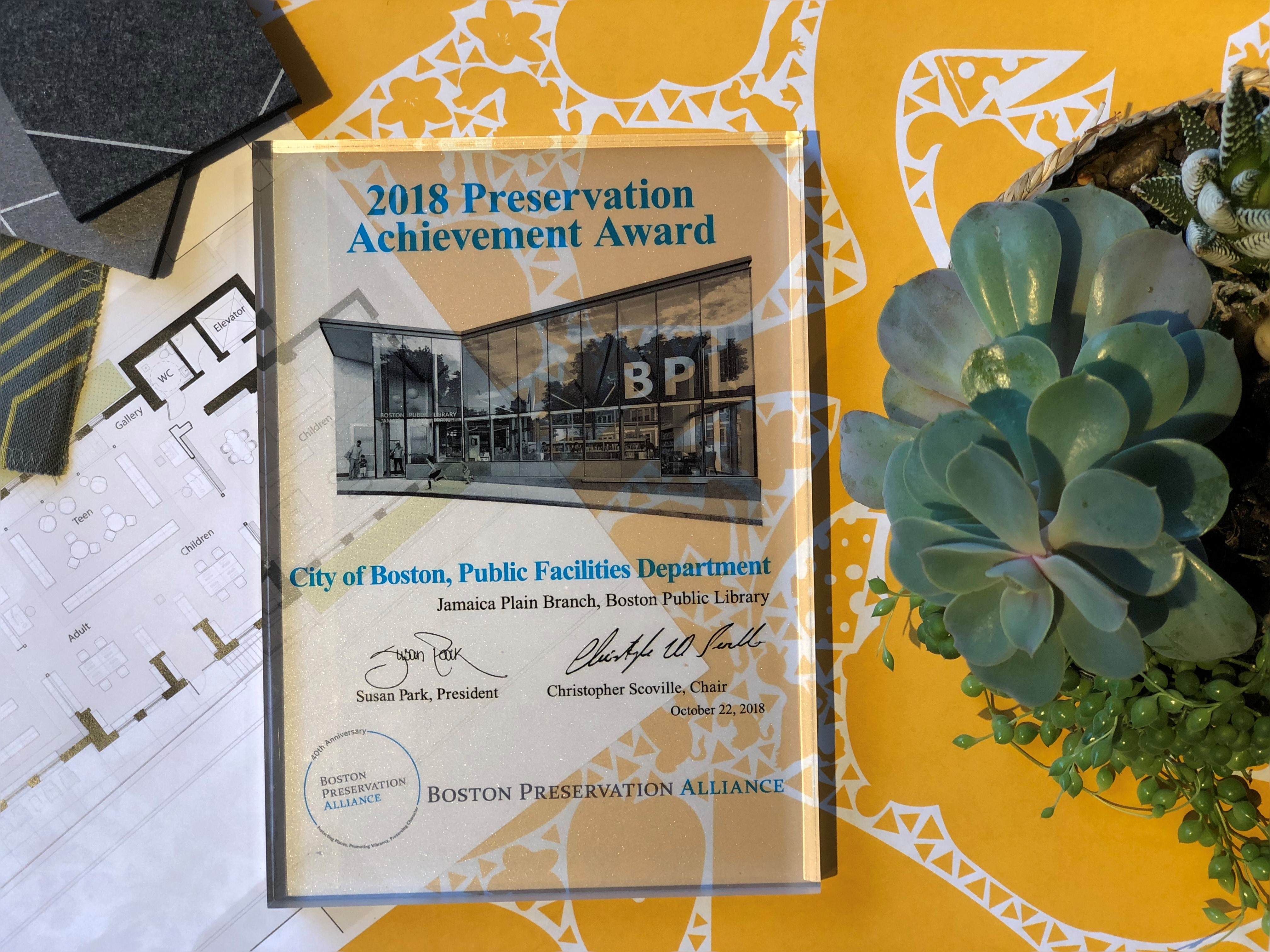 Boston Preservation Alliance 2018 Awards and 40th Anniversary Celebration