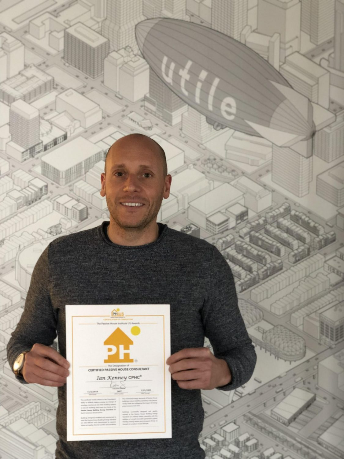Ian Kenney earns Passive House Consultant Certification
