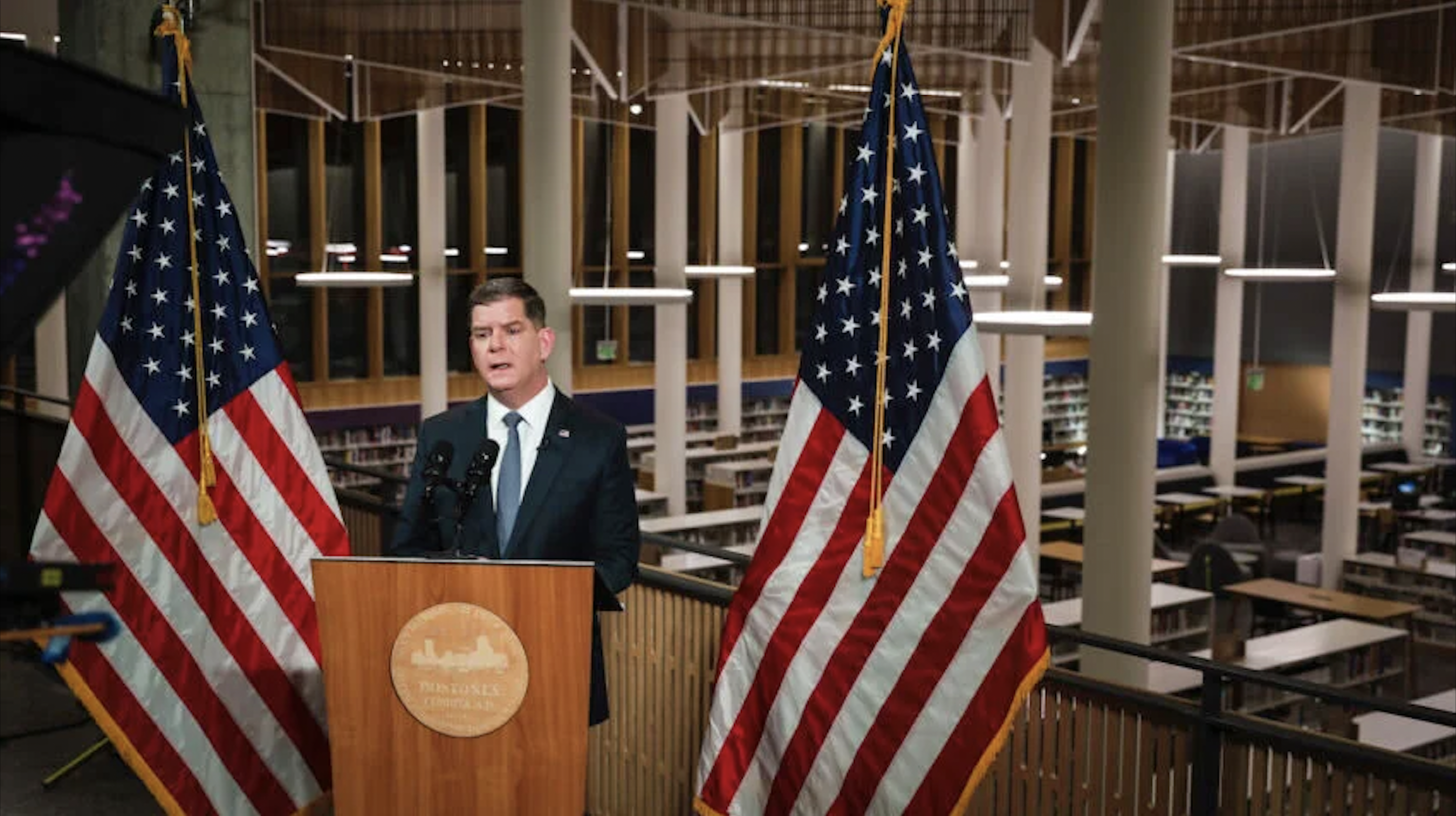 Mayor Walsh holds annual State of the City address at newly reopened Roxbury Branch Boston Public Library