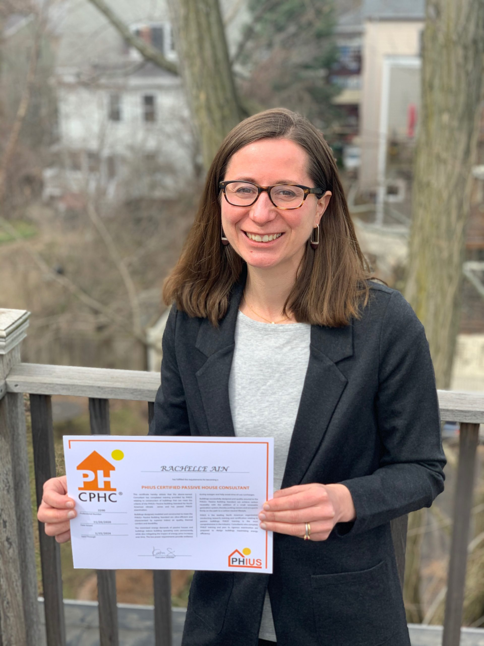 Associate Alexander Davis and Rachelle Ain become Utile's newest Certified Passive House Consultants