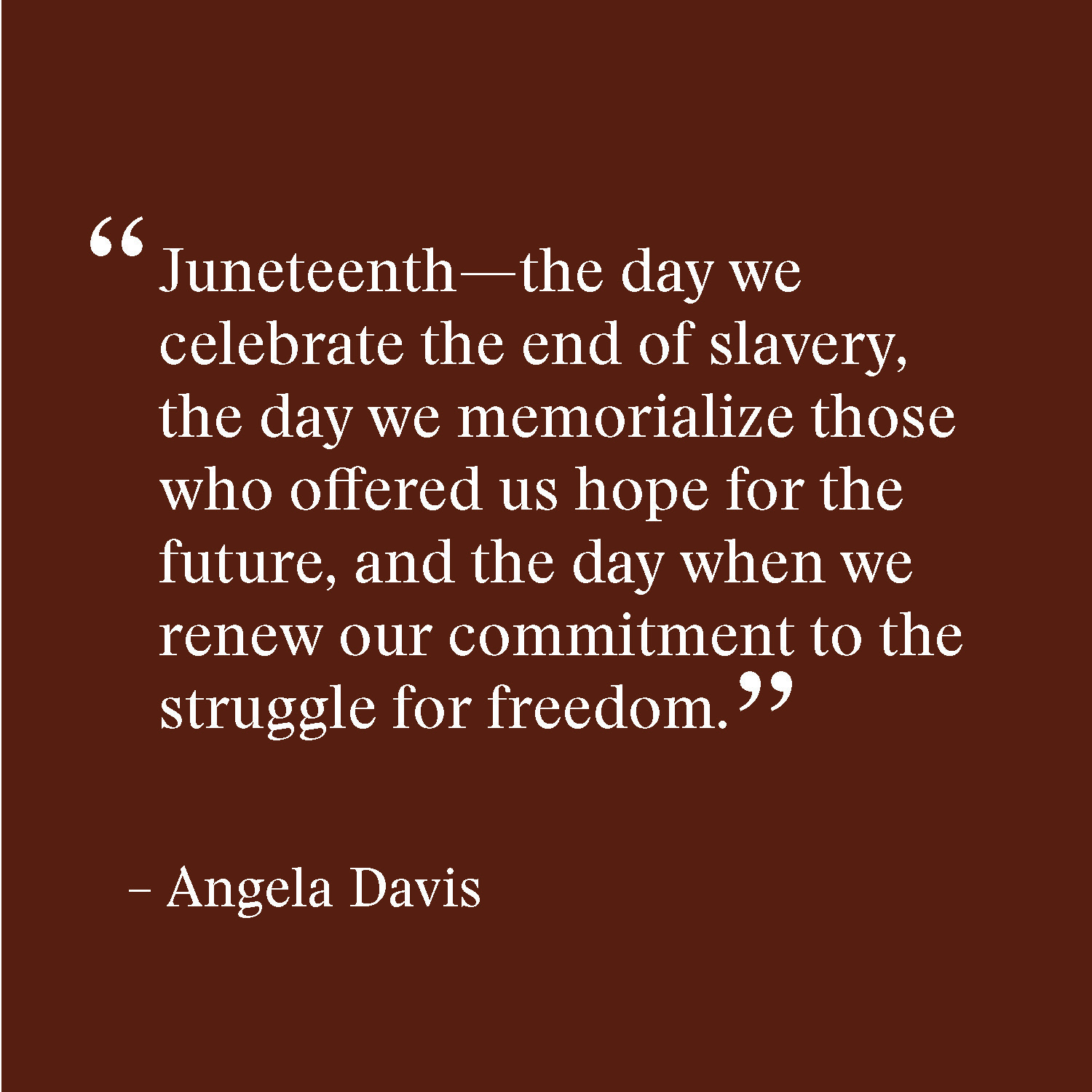 Recognizing the first national Juneteenth